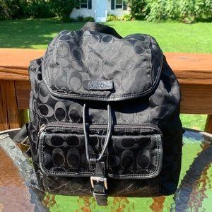 COACH Signature Nylon Backpack